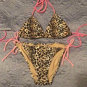 Victoria's Secret Leopard print bikini set